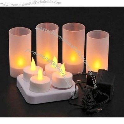 candle lights rechargeable flameless tea lights with frosted holder. Black Bedroom Furniture Sets. Home Design Ideas