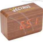 LED Display Wooden Clock