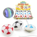 LED Flash Music Football Spinning Top
