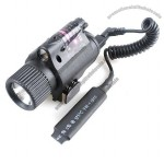 LED Flashlight and Red Laser DOT Sight Combination Cree