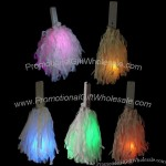 LED Glow Power Poms - White Strands w/Colored Lights