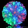LED Hanging Petal Ball Decoration for Christmas, Garden and Party