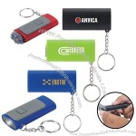 LED Light Keychain with Microfiber Screen Cleaner