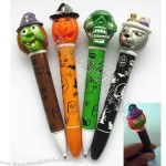 LED light pen. The skull shape top will light up when writing, with 1 LED light.