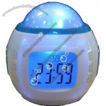 Led Night Light Color Change Star Projection Music Clock