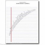 "Legal Pads - Notepad Binding, 100 sheets, Letter 8-1/2""x 11"""