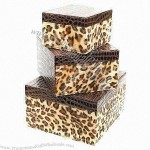 Leopard Print Gift Boxes