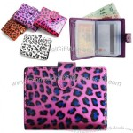 Leopard Skin Faux Leather Card Bifold Wallet