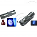 Light Ultra Violet UV 12 LED Flashlight Torch