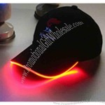 Light up baseball hat with black/red LED's.