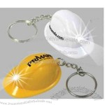 Light up mini hard hat design keychain