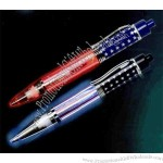 Light up musical patriotic flag pen with LED light.