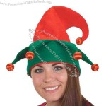 Light-up red/green felt elf hat