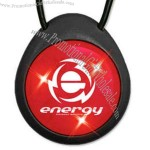 Light up USB button necklace - red LED.