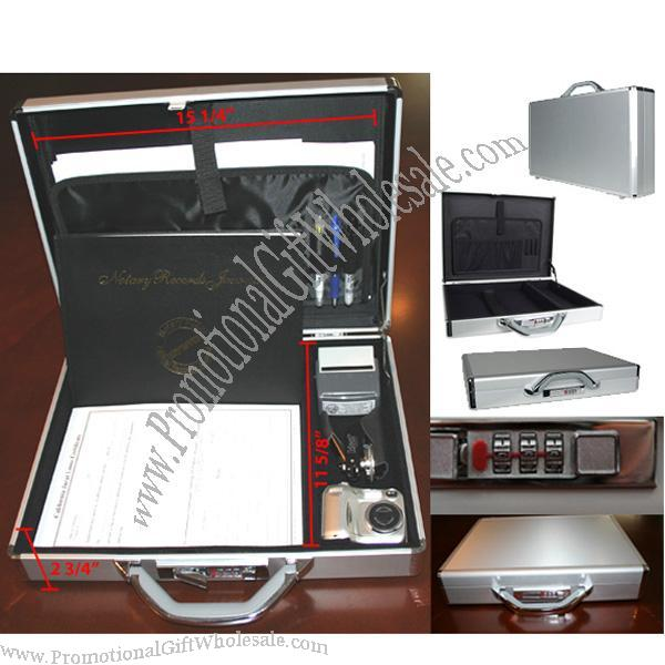 Lockable Aluminum Notary Briefcase Distributor 1362890050