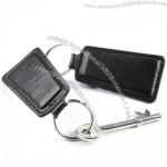 London Nappa Leather Trapeze Key Fob