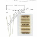 Long 3-inch Cleanroom Environment Protection Cotton Swabs with Paper Pole