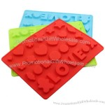 Love and Various shapes Silicone Ice Tray