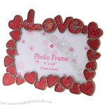 Love Themed Metal Photo Frame - Red