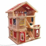 Lovely Children's Play Wooden Toy Doll House