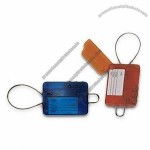 Luggage Tag with Shackle and Locking Cable