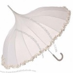 Luxury Cream Pagoda Wedding Umbrella