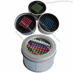 Magic Neo Cube, 216pcs of 5mm Balls, Pack in Round Tin Box