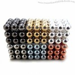 Magnetic Balls with Zinc, Black Epoxy, Imitation Gold and Silver Coating,