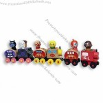 Magnetic Train Toy, Made of Solid Wood