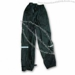Man's Rain Pants with PU Coating and Taped Seam