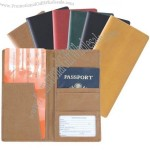 Manmade Leather Passport Ticket Holder