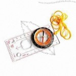 Map Compass with Scale and Ruler