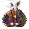 Mardi Gras feathered peacock mask