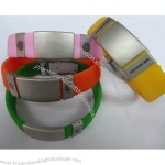 Medical ID Bracelet with Engraved Small Badges