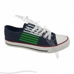 Men's canvas shoes with rubber outsole