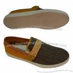 Men's Casual Shoe with Canvas Upper and RB Outsole Materials