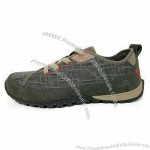 Men's Casual Shoes With Cow Suede Leather/Canvas Upper With Rubber Outsole