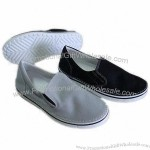 Men's Flat Casual Shoes with Canvas Upper, EVA Insole and Outsole