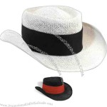 Men's gambler style straw hat