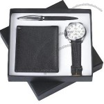 Men's Gift Set With Wallet, Watch, Ball Pen