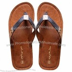 Men's Slippers for Outdoor, with Leather Sole and Braid Leather Upper