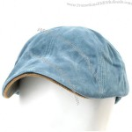 Mens Cabbie Flat Cap Vintage Cotton Hat