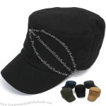 Mens Cotton Black Cadet Caps Ball Cap Military Hat