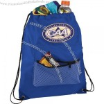 Mesh Front Pocket Drawstring Sportspack Bag
