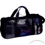Mesh Roll Bag Has A Zippered Main Compartment And Front Slip Pocket
