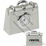 Metal Briefcase Shaped Clock