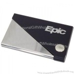 Metal Card Case Shiny and Black