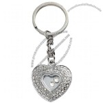 Metal Double Heart Keychains