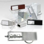 Metal Edge Crystal USB Memory Drive with LED Light USB
