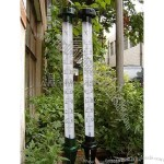 Metal Garden Thermometers with LED